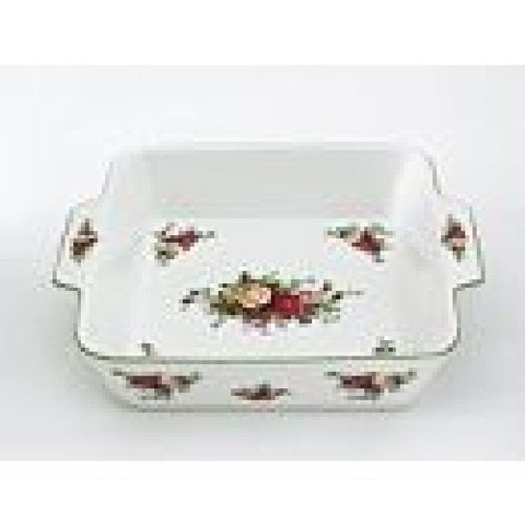 Royal Doulton ROYAL ALBERT GIFTWARE OLD COUNTRY ROSES: Square Baker, - Doulton Old Country Roses Royal