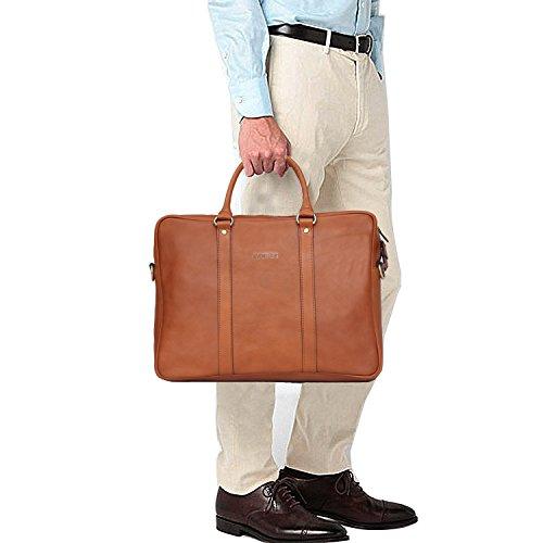 Banuce Vintage Leather Tote Briefcase for Men Business Messenger 14 inch Laptop Bag by Banuce (Image #7)