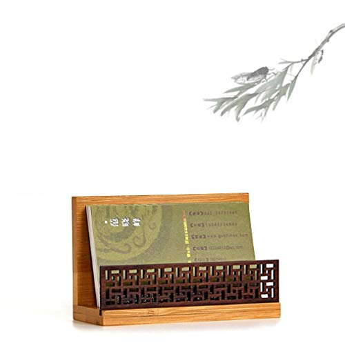 Szblaze Japanese Garden Style Wood Office Business Card Holder for Desk Organizers and Accessories (Japanese Card Business)