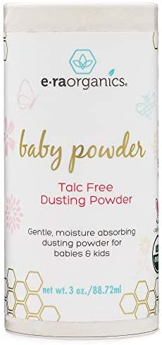 Baby Powder Talc Free – USDA Certified Organic Dusting Powder for Excess Moisture & Chafing That's Actually Good for Your Skin- Non Toxic, Non-GMO, Cruelty Free Era-Organics