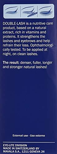 Mavala Double Lash Nutritive Eyelash Serum for Longer Lashes | Treatment to Grow Healthy, Natural Looking + Denser Lashes or Eyebrows | 0.3 oz Bottle , No. 002 Hologramme