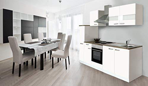 Superior Respekta Küche Küchenzeile Einbauküche Küchenblock 240 Cm Weiss Weiss Soft  Close