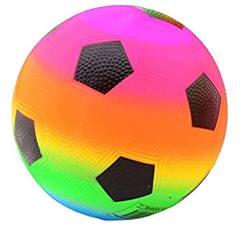 Bunter Regenbogen Fussball Grosse 5 Amazon De Spielzeug