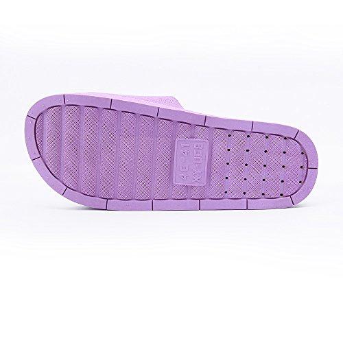 Sandals BESIDESTAR Unisex Slipper Purple and Anti for Women Smile Indoor Bath House Men Slip Leisure Toe Slippers Open qfr17pq
