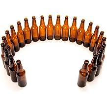 Monster Brew Home Brewing Supp Amber Beer Bottles (24 Pack), 12 oz