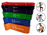Body Revolution Resistance Gym Bands - Singles or Sets - for Yoga, Exercise and Physiotherapy (1.3cm Red)