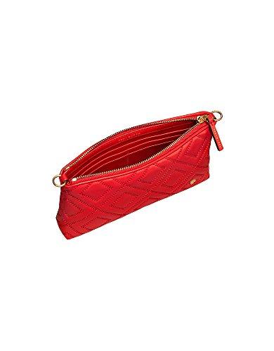 Mujer Cuero De 40567602 Tory Hombro Burch Rojo Bolso 8wB845q