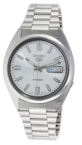 Seiko Men's SNXS73K Seiko 5 Stainless Steel Siver Dial Watch
