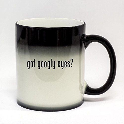 got googly eyes? - 11oz Black Color Changing Coffee Mug