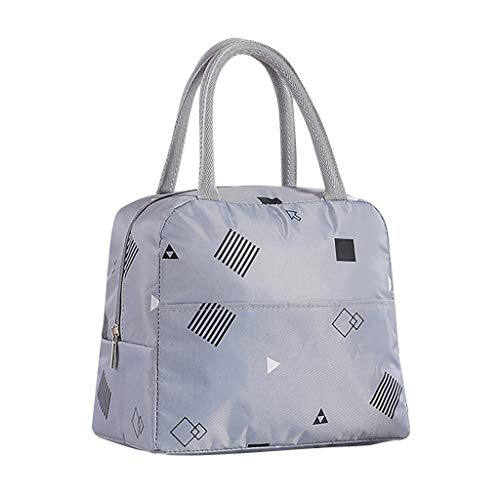 Insulated Lunch Bag Double Decker Tote Bag-Reusable Cooler Bag for Women,Girls,Work Pinic Or Travel-Shoulder Strap
