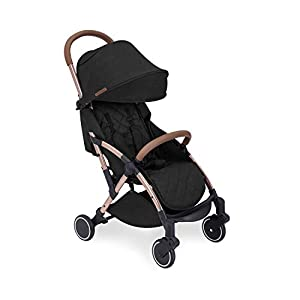 Ickle Bubba Globe Stroller | Ultra-Compact Travel Pushchair | from Birth to 3 Years | UPF 50 Hood, Rain Cover | Black on…