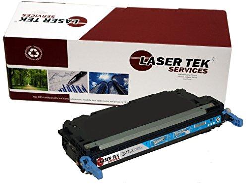 Q6471a Laser Toner - Laser Tek Services Compatible Toner Cartridge Replacement for HP 502A Q6471A (Cyan, 1-Pack)