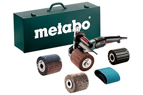 """Metabo- 4"""" Variable Speed Burnisher Kit- 800-3, 000 Rpm -14.5 Amp W/Lock-On, Accessory Set (602259620 17-200 Rt), Inox - Stainless Steel Finishing"""