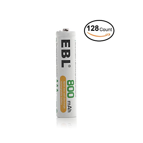 EBL 128 Pack Ni-MH 800mAh AAA Rechargeable Batteries by EBL