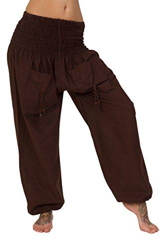 ThaiUK - Pantalón - para mujer marrón