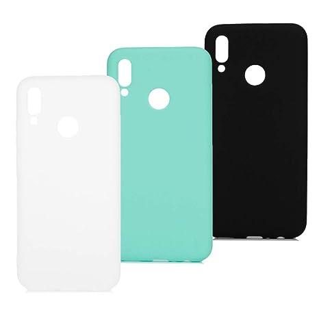 3x Funda Huawei P Smart 2019, Honor 10 Lite Carcasa Silicona Colores del Caramelo Protector TPU Ultra-Delgado Caso Caja para Teléfono Case Carcasas ...