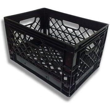 plastic milk crate storage cubes crates home depot pack black heavy duty rectangular dairy bins