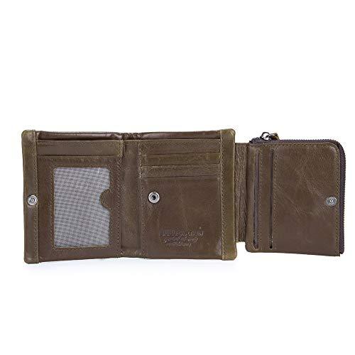 Bags Vertical Billetera Brown Álbum Cuero Corta Multi Hebilla La De función Hombre Multifunción PwFrPIq