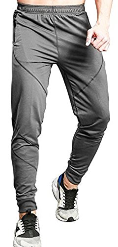 Cotton Spandex Sport Pant - TBMPOY Men's Casual Cotton Jogger Pants Elastic Waist Running Sports Trousers(Dark Grey,us S)