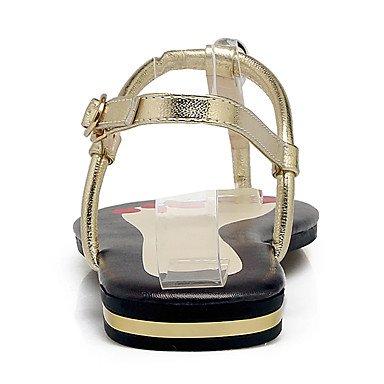 Punta Sandel Pelle Tacco Oro CN36 Slingback UK4 RTRY Piatto Mucca Nero Bianco Piatto Donna US6 Di EU36 Sandali In wvxwWSFAqz