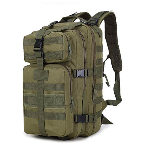 Purpume 35L Military Tactical Backpack Oxford 3P Bags Tactical Backpack Army Green by Purpume