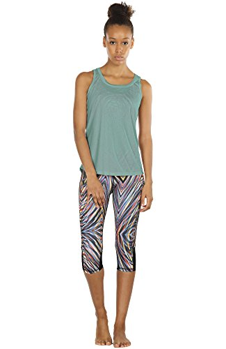 Icyzone Yoga Tops Activewear Workout Clothes Open Back Fitness