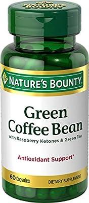 Nature's Bounty Green Coffee Bean with Raspberry Ketones & Green Tea, 60 Caplets