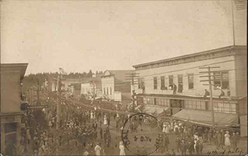 - Fourth of July Celebration in Early 20th Century Town North Bend, Oregon Original Vintage Postcard