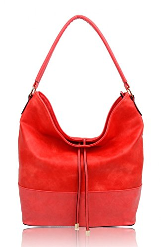 LeahWard? Women's Fashion Style Handbags Faux Leather Shoulder Bag Tote Bags For Ladies CW150906 RED TASSEL