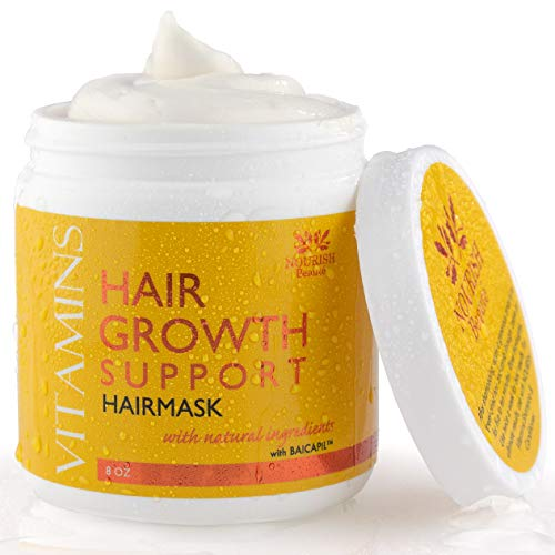 Hair Mask for Dry Damaged Hair – Deep Conditioning Hair Treatment Mask – Designed for Hydrating Hair Treatment Therapy and Hair Growth Support, For All Hair Types including Color Treated, 8 Ounces For Sale