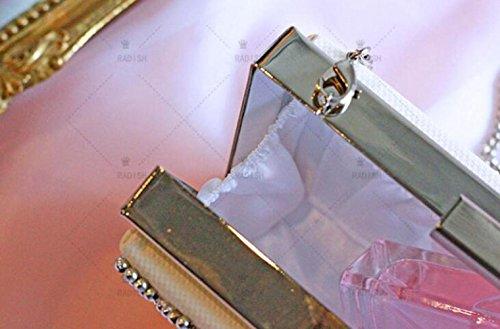 White à Diamants KYOKIM Sacs Main Messenger Bag Bandoulière Banquet Fleurs Pochette Sac à Sac 1PZPqOw