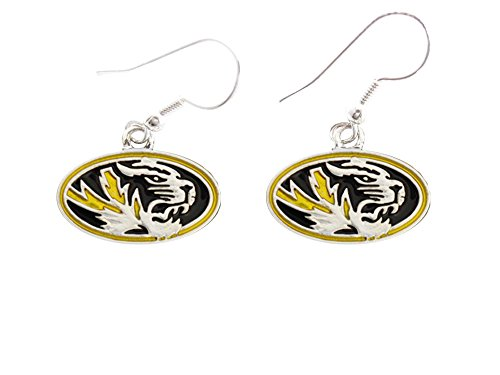 Missouri Tigers Iridescent Gold Black Silver French Hook Earring Jewelry Mizzou MU