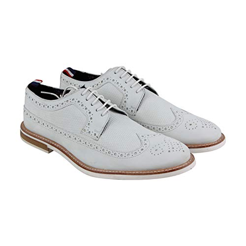 Ben Sherman Men's Birk Long Wing Oxford White 11.5 M US