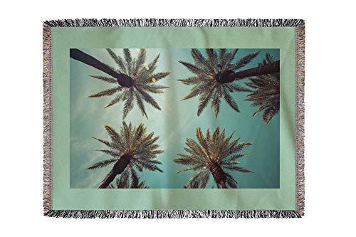 Lantern Press California -Vintage Beverly Hills- Photography A-92267 (60x80 Woven Chenille Yarn Blanket)