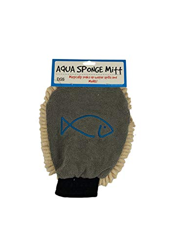 Dog Gone Smart Glass & Acrylic Aquatic Tank Cleaning Glove/Mitt, Khaki, Fits All