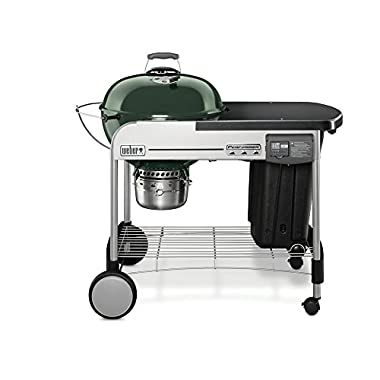 Weber 15507001 Performer Deluxe Charcoal Grill, 22-Inch, Green