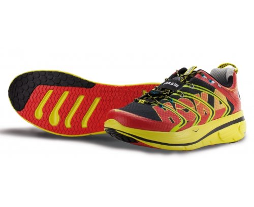 HOKA One Rapa Nui 2 Tarmac Zapatilla de Running Caballero, Rojo/Negro, 42: Amazon.es: Zapatos y complementos
