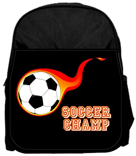 Soccer champ 14'' x 12'' Small Backpack and 4.5'' x 8.5'' Pencil Case SET by Rosie Parker Inc.