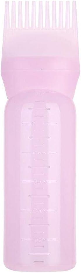 Botella de pincel de tinte para el cabello, 3 colores Ligero Botella de tinte para el cabello Champú Pincel Champú Herramienta de aplicación de peine ...