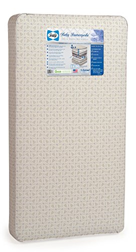 "Sealy Baby Posturepedic Infant/Toddler Crib Mattress -220 PostureTech Sensory Coils, Orthopedically Designed Coil System, Hospital-Grade Waterproof Cover, Secure Edges, Anti-Sag System, 51.7""x27.3"