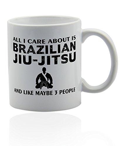 Brazilian jiu-jitsu BJJ mug for coffee or tea 11 oz. Jiu jitsu funny gag joke gift cup. Thank you appreciation gifts.