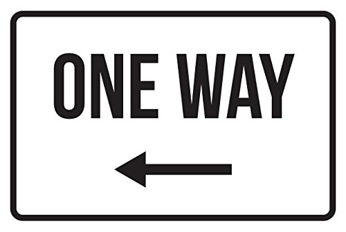 One Way Left Arrow No Parking Business Safety Traffic Signs Black - 12x18 - Plastic by iCandy Products Inc