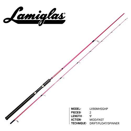 Lamiglas LX90MHSGHP Ladies Pink X119' Med HVY Spin Graphite Hndl (Lamiglas Spinning Rod)