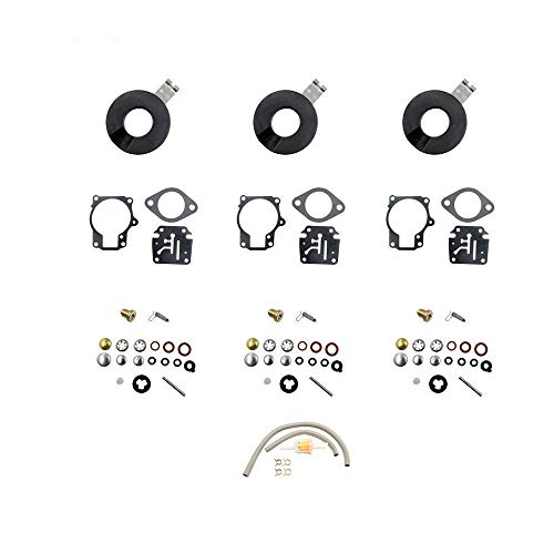 (DEF Carb Repair Kit for Evinrude Johnson Dual 0398729 0396701 0392061 Mallory 9-37107 Sierra 18-7222 Horse Power 18 20 25 28 30 35 40 45 48 50 55 60 65 70 75 HP Outboard Motors with Float (3 package))