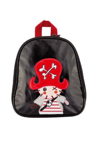 Kiwisac pour Bellemont 8025 - Mochila infantil, diseño brillante con pirata, color negro y rojo