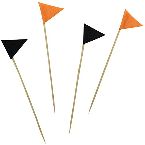 Halloween Cake Topper Kit Felt Pennant Flags 4pcs - Excellent Home Decor - Indoor & Outdoor