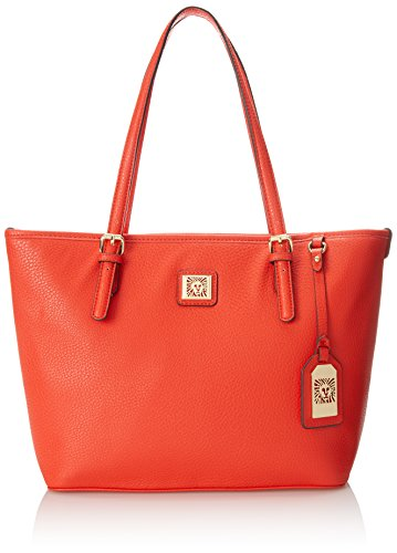 Anne Klein Perfect Tote Medium Shoulder Bag Sunset Orange One Size