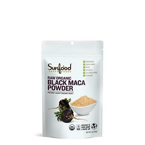 Sunfood Superfoods Black Maca Powder.