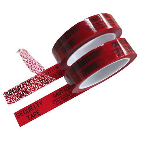 - 2 Rolls Total Transfer Tamper Evident Security Void Tape (Red 1