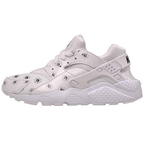 Nike Kid's Huarache Run SE (GS), White/Black, Youth Size 6 ()